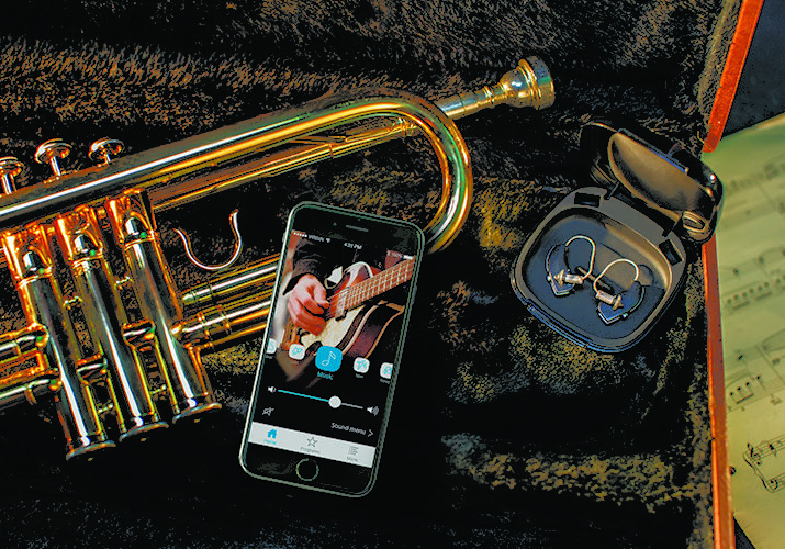Trumpet and iPhone